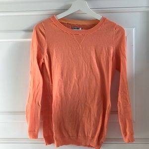 Old Navy coral crew neck sweater size s